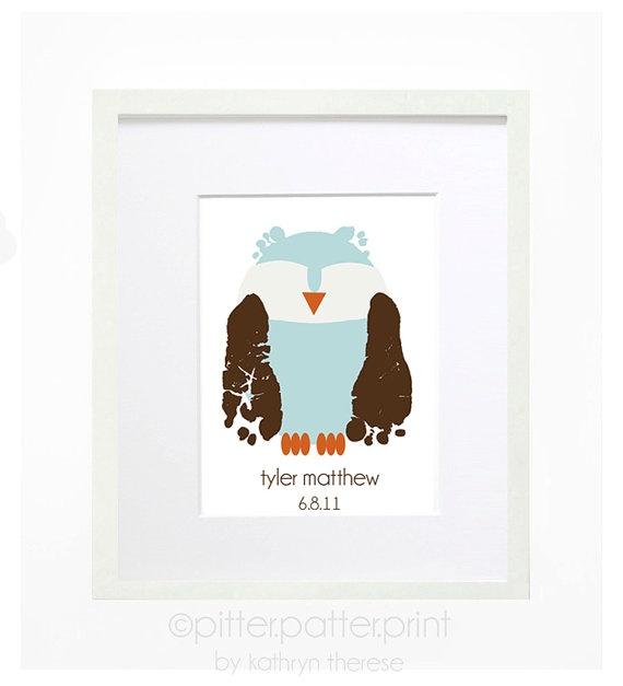 Owl Nursery Decor  Woodland Nursery  by PitterPatterPrint on Etsy, $35.00