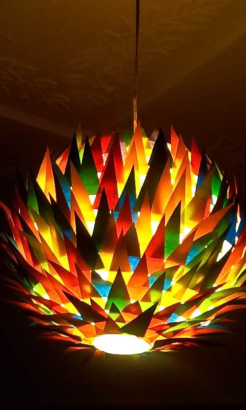 Trinity Hanging Lampshade Made From Bright By MelsCreativeDesigns