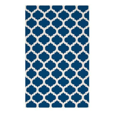 love the deep rich hue of this rug and the quatrefoil design z gallerie casablanca dhurrie rug indigo
