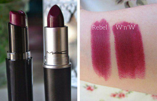 10. MAC Rebel & Wet n Wild Sugar Plum Fairy | Splurge Or Save: The Best MAC Lipstick Drugstore Makeup Dupes
