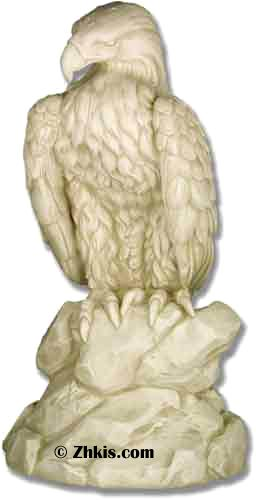 Life Size Eagle Garden Statue - Outdoor Eagle statue perfect for a garden area patio or porch made from durable fiberglass designed for outdoor year round weather. Comes with several finish options