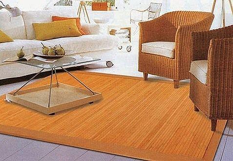 Alfombras bambú, elegantes y practicas, en el salón, los pasillos o dormitorios #decoración #deco