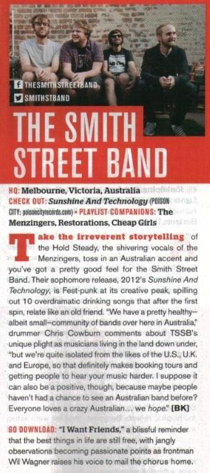 The Smith Street Band - Alternative Press APR Issue