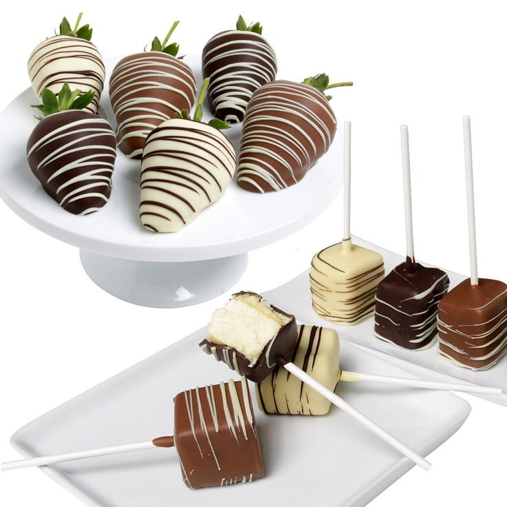 Belgian Chocolate Covered Strawberries & Cheesecake Pops 12-count