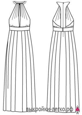 Готовая выкройка платья в греческом стиле с кожаными вставками   Выкройки онлайн и уроки моделирования