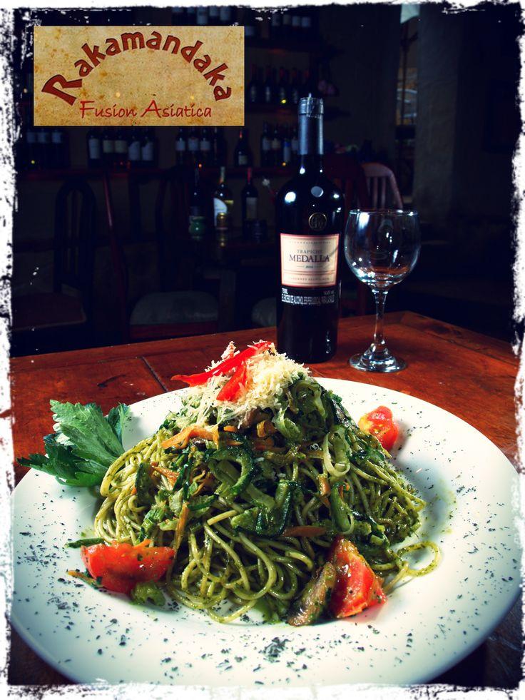 ★ Pasta Vegetariana ( Vegetales salteados al wok ) - Restaurante Rakamandaka #Villadeleyva  @RakamandakaNo1