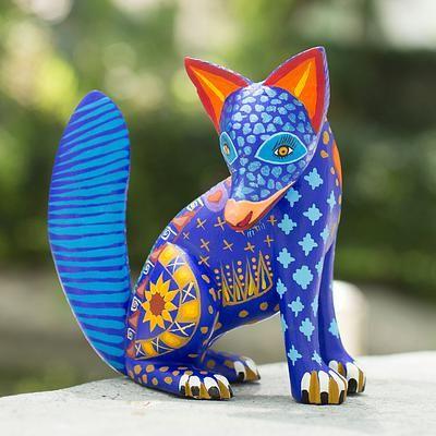 Алебрихе скульптуры, 'сапотек Койот' - Мексика алебрихе Дикая собака Скульптура Оахака Народное искусство (фото 2) мини-копии
