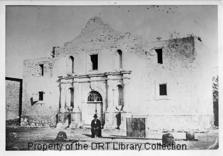 The Alamo with weighing scale, pre-1877, circa 1847-1877 Photo: DRT Library Collection