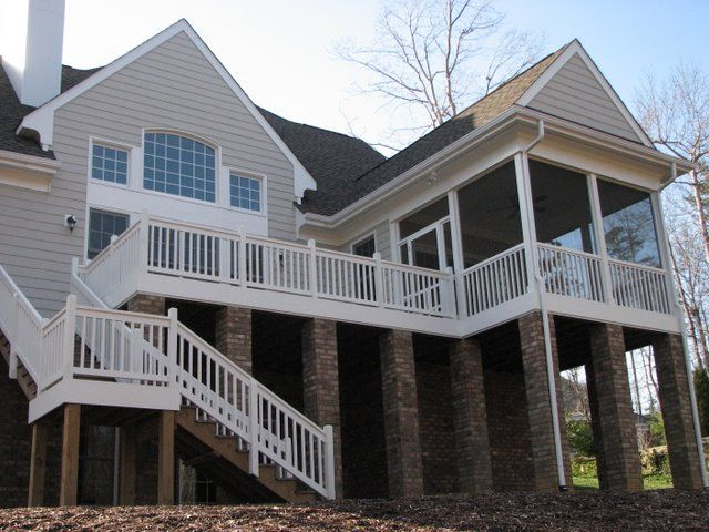 17 best ideas about two story deck on pinterest two story deck ideas stair slide and deck - Two story house plans with covered patios ...