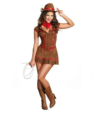 Look what I found on #zulily! Sassy Cowgirl Costume Set - Women by Dream Girl #zulilyfinds
