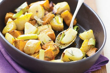 These roast winter vegetables make a wonderful side dish and pair well with roast beef, roast chicken, pork or fish recipes.