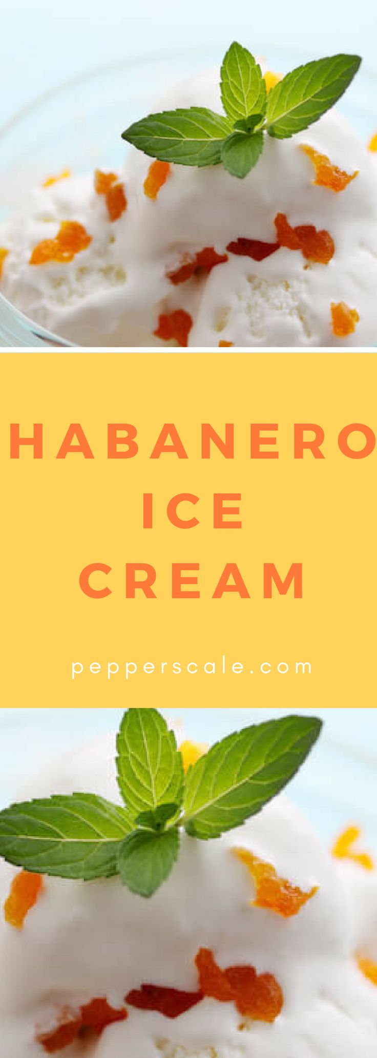 Easy Habanero Ice Cream - Heat up your basic store-bought vanilla! You don't need an ice cream maker to concoct some unique spicy ice cream flavors. All it takes is your favorite store-bought vanilla ice cream, your favorite tropical fruit (pineapple, mango, and orange all work great here), and a few habanero peppers.