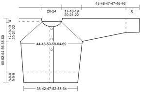 """Winter Morning - Veste raglan DROPS en """"Alaska"""". Du S au XXXL. - Free pattern by DROPS Design"""