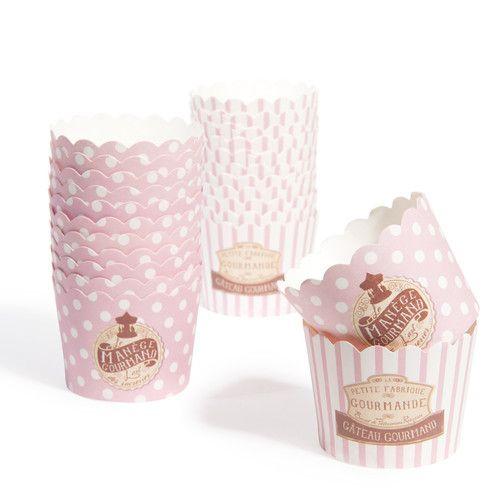 Boîte de 24 caissettes à cupcake Manège
