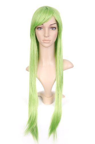 Green Long Length Anime Costume Cosplay Wig >>> ** AMAZON BEST BUY -affiliate link** #CosplayCostumes