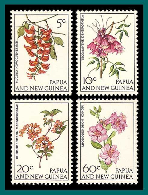 PNG Stamps 1966 Flowers, mint