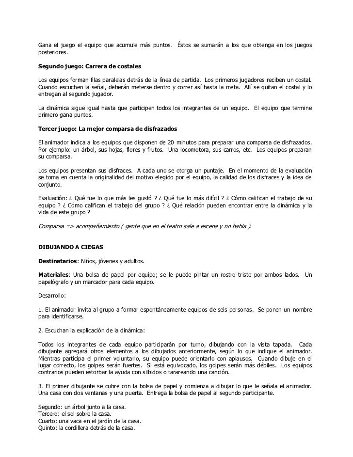 Dinamicas Para Grupos Juveniles Padua San Antonio Chacos