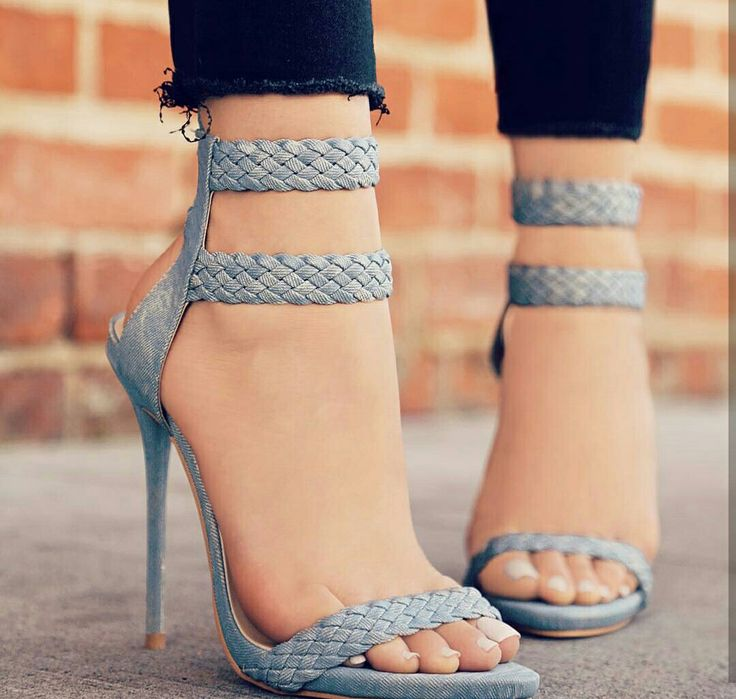 Grey High heels