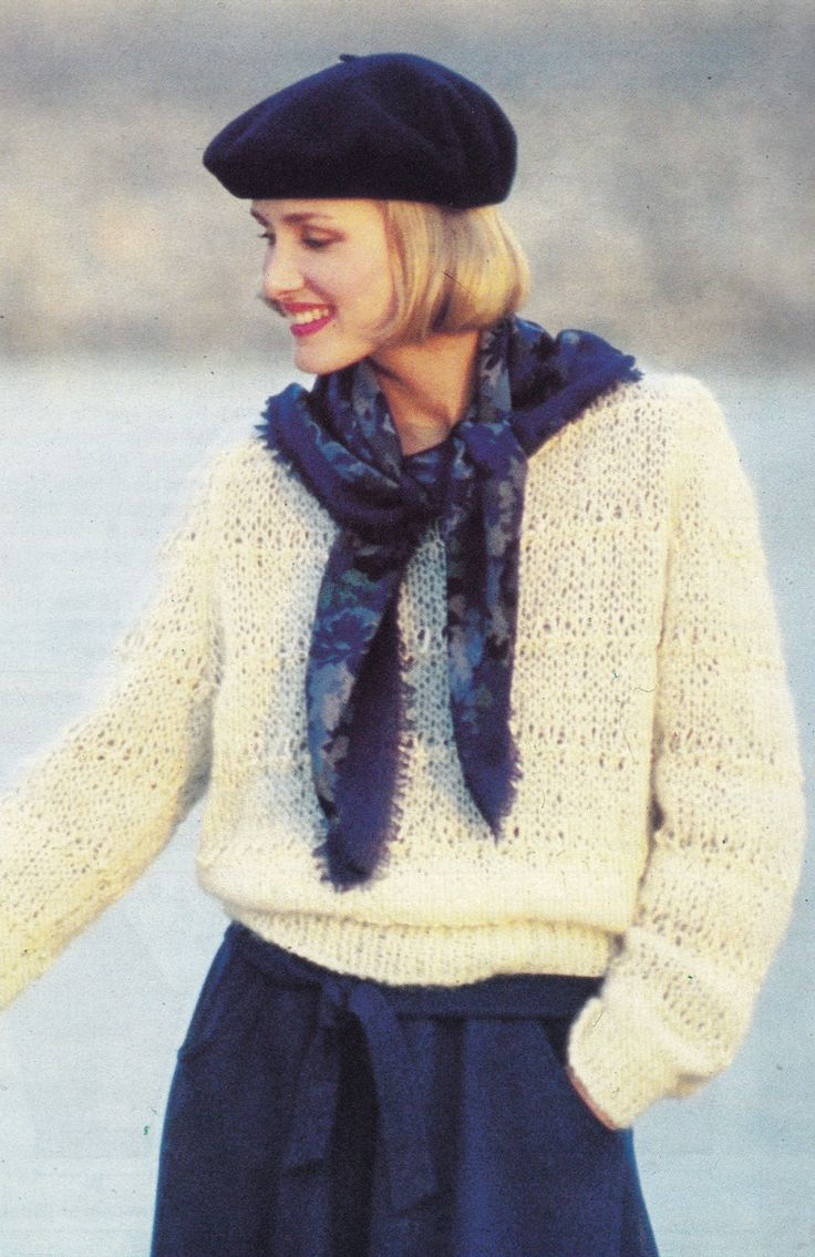 Vintage Knitting Pattern Instructions to Make a Ladies Aran Jumper Sweater Quick to Knit by LucysPatternBox on Etsy