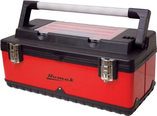 Awesome Homak   RD00423002 Metal and Plastic Roll Away Tool Box