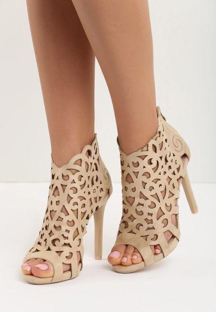 Sandale cu toc Petrina Bej