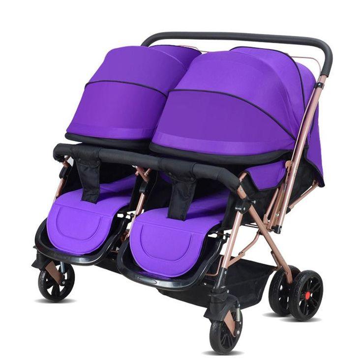 2017 Two-Babies Strollers for Twins Old Bebek Arabasi Prams for Newborns Baby Girl&Boy Two Babies Stroller Baby Strollers Brands