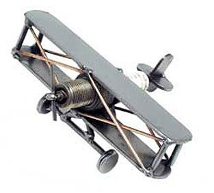 'SPARKPLUG CRUISER PLANE' METAL SCULPTURE