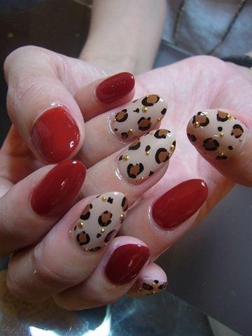 leopard #nail #nails #nailart