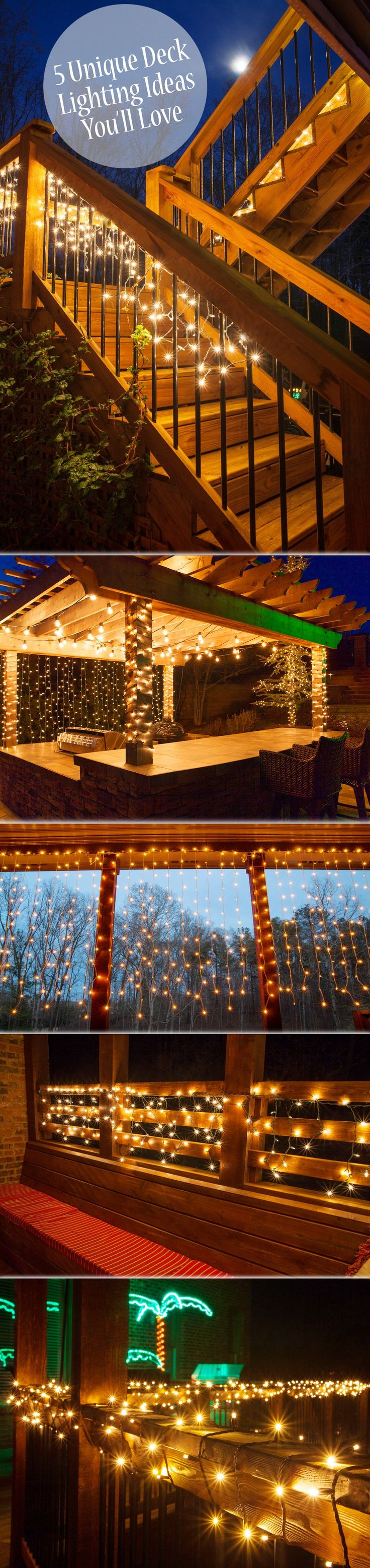String Lights Patio Cover : 17 Best ideas about Deck Lighting on Pinterest Backyard lights diy, Patio lighting and ...