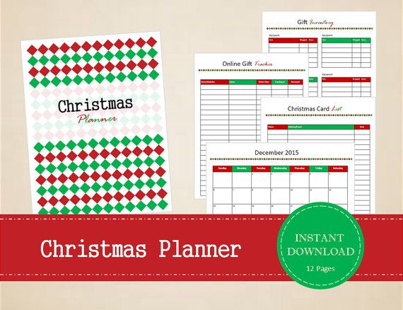 Christmas Planner   Christmas Organizer  by MBucherConsulting