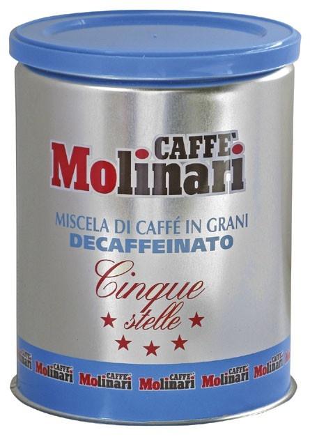 Molinari Cinque Stelle őrölt, koffeinmentes 250gr