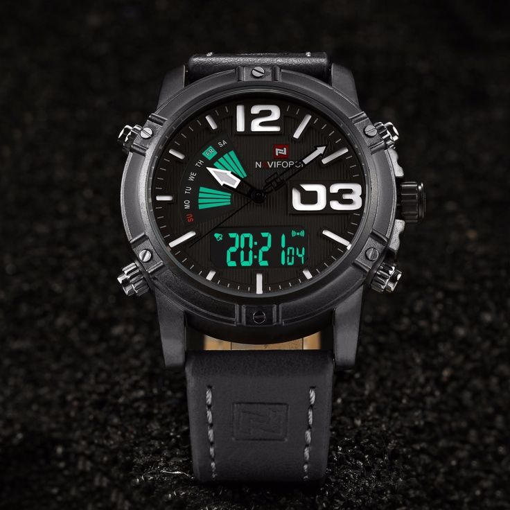 21.99$  Watch here - http://ali3h9.shopchina.info/1/go.php?t=32814354891 - Relojes hombre NAVIFORCE Men's Fashion Sport Watch Quartz montre Digital LED Clock Male Leather Military Waterproof Male Watch  #bestbuy