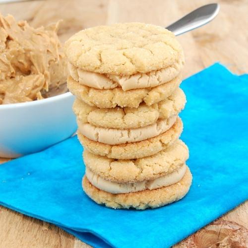Peanut Butter Sandwich cookies!---aka PB double doozies ...