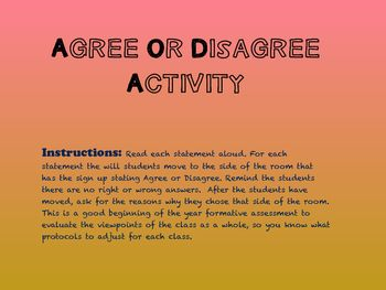 A short introduction activity to formatively assess your students behaviors as a…