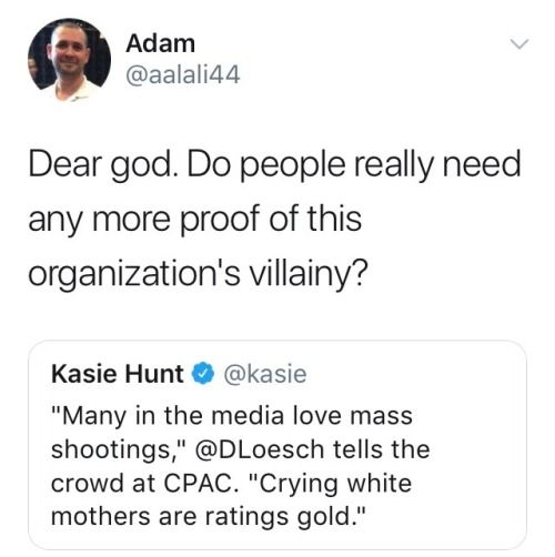 Crying mothers and dead children are just line items in the NRA grievances with Americans and their values.