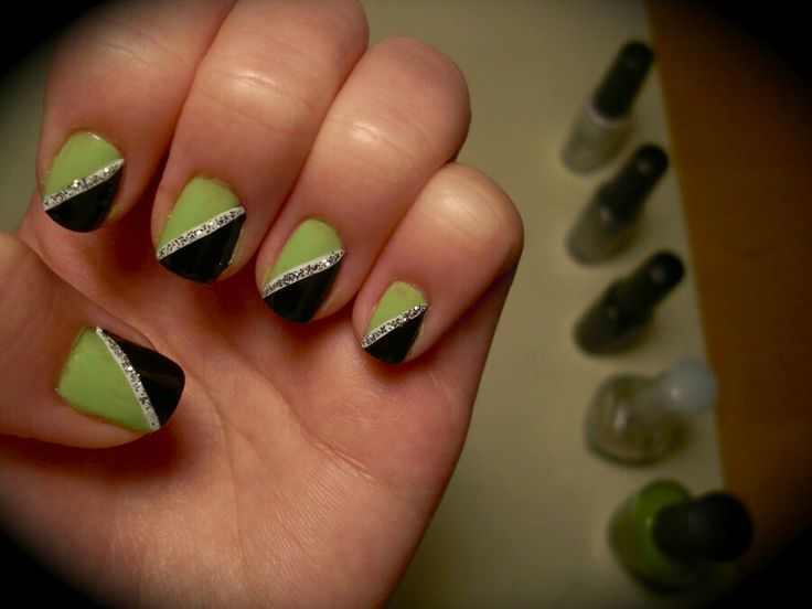66 best green nail art images on pinterest green nail art green 14 bright and easy neon green nail art designs prinsesfo Images