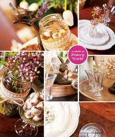 Pottery World's fresh, floral tablescape in Lavish Living Magazine June 2015