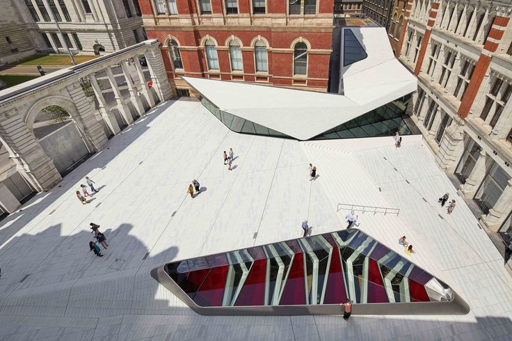 Completed in 2017 in London, United Kingdom. Images by Hufton + Crow. . The V&A Exhibition Road Quarter took six years to realise and transforms the V&A's former boilerhouse yard on London's great cultural artery,...