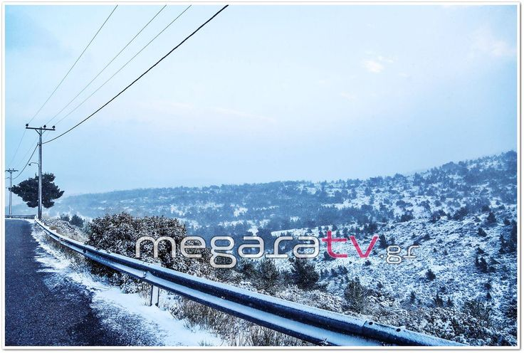 Χιόνι στα Μέγαρα #megara #megaratv #snow