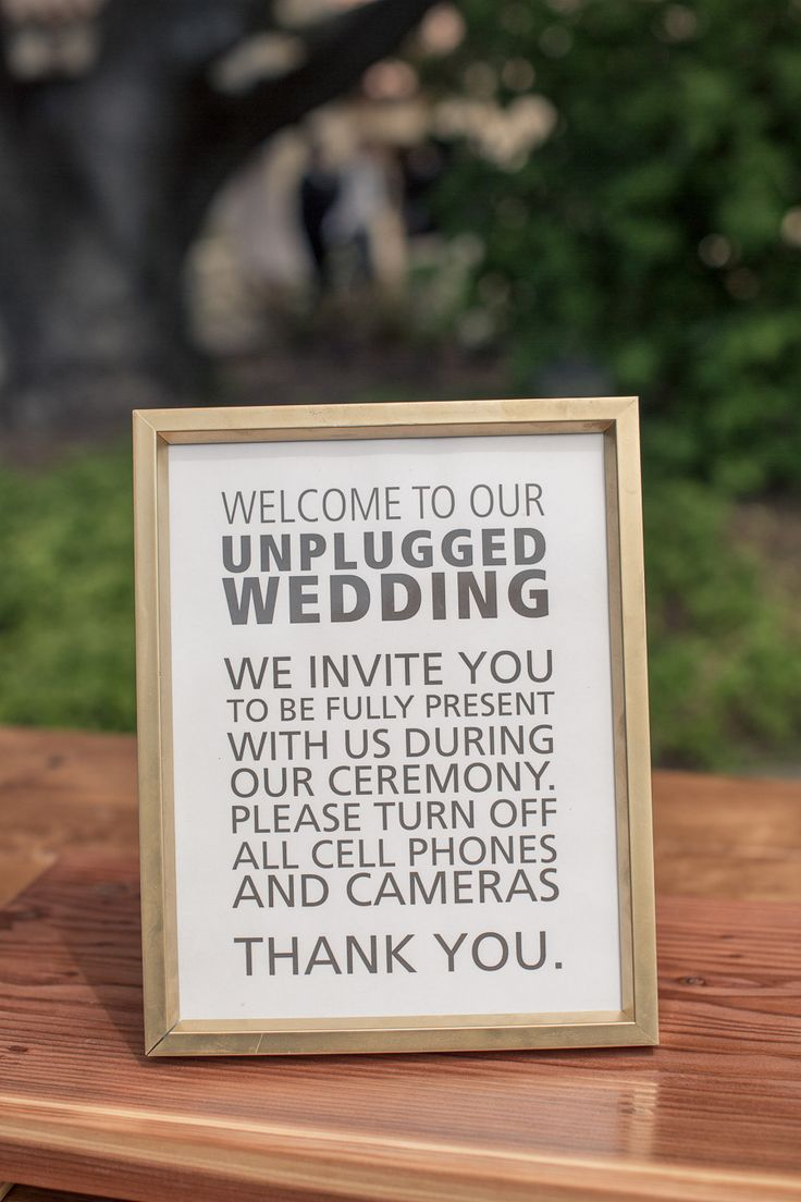 17 Best Images About Unplugged Wedding On Pinterest