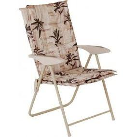Cadeira Estofada Reclinável Kairos Floral Mor 4 Posições