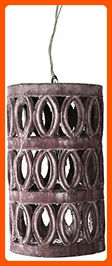 Dimond Home 156-013 Small Pierced Antique Lantern, Grey Washed Stone - Unique lighting lamps (*Amazon Partner-Link)