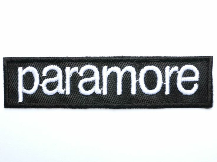 """PARAMORE Logo Iron On Sew On Embroidered Patch 3"""""""