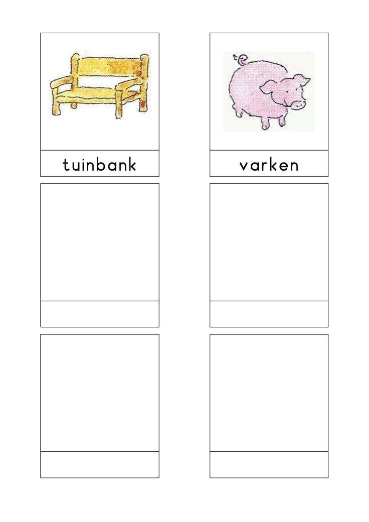 Woordkaarten Bas 'De boerderij' 3