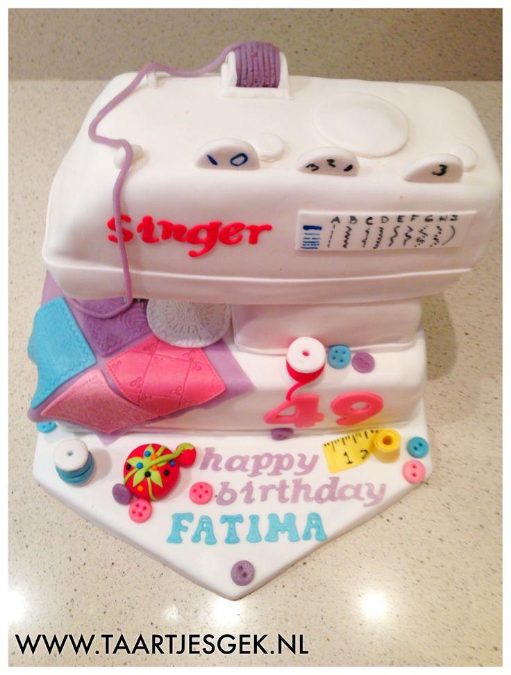 Naaimachine / Sewing machine cake