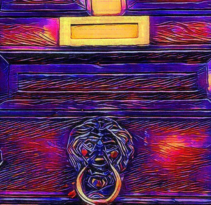 Knock the lion Knock the door locker colors mailbox