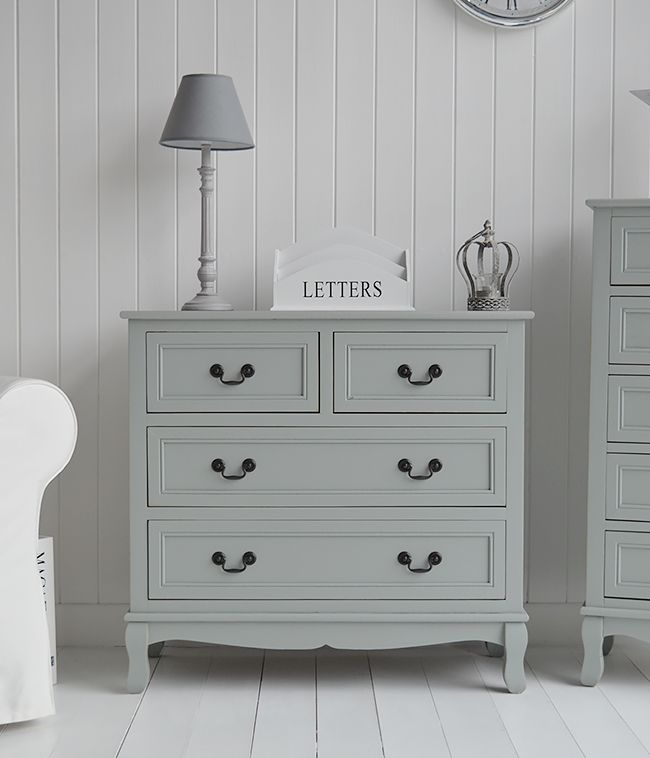 Berkeley Grey tallboy narrow chest of drawers Ideas in decorating. Range of cottage furniture available online with fast delivery from The White Cottage