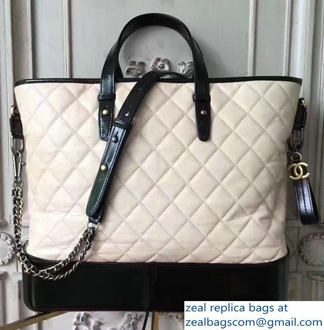 Chanel Gabrielle Large Hobo Shopping Tote Bag A93823 Nude/Black 2017