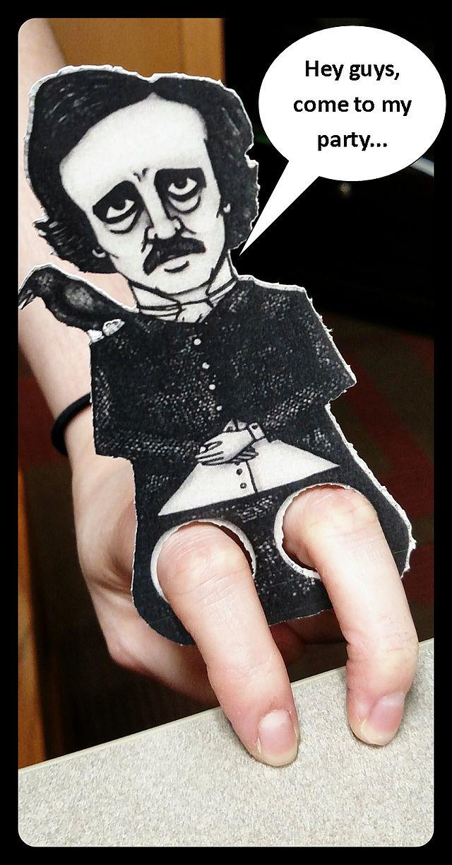 Edgar Allan Poe finger puppet