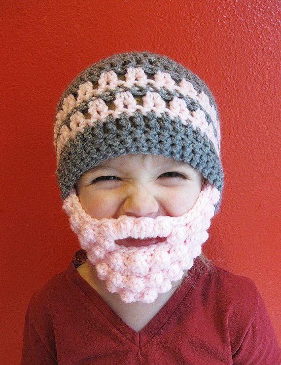 Custom Beard Crochet Hat, Bobble beard hat, Baby beard hat, Infant beard hat